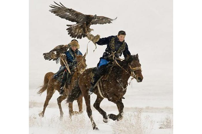 Hunting with birds of prey