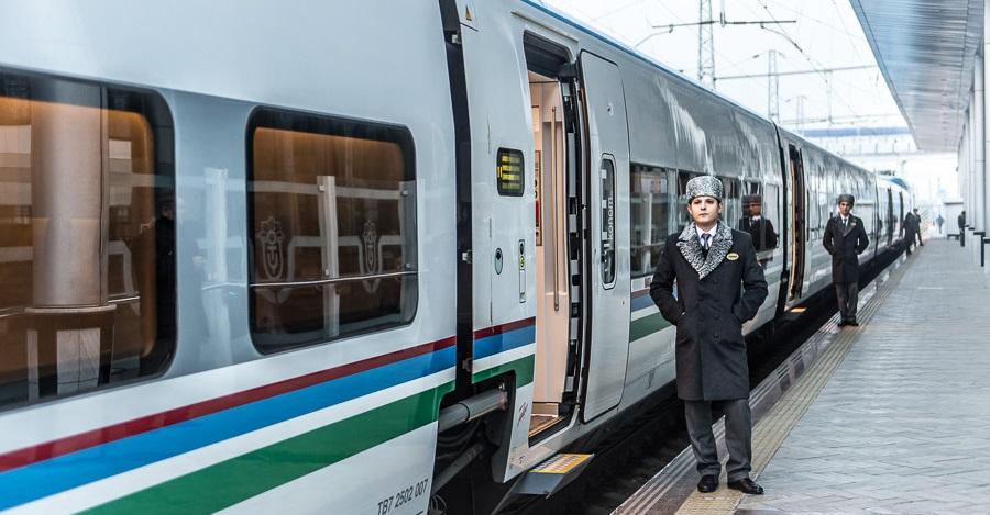 Afrosiyob speed Train, Uzbekistan. AnurTour