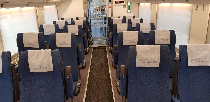 Afrosiyob Train Economy class. Uzbekistan, Anur Tour
