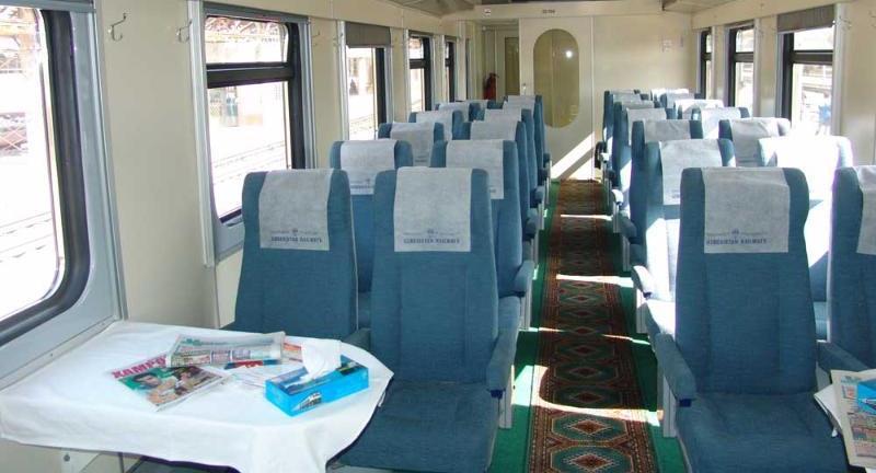Shark Train Economy class. Uzbekistan, Anur Tour