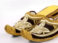 Traditional shoes of XX century in Uzbekistan