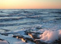 To the present Aral Sea coast..
