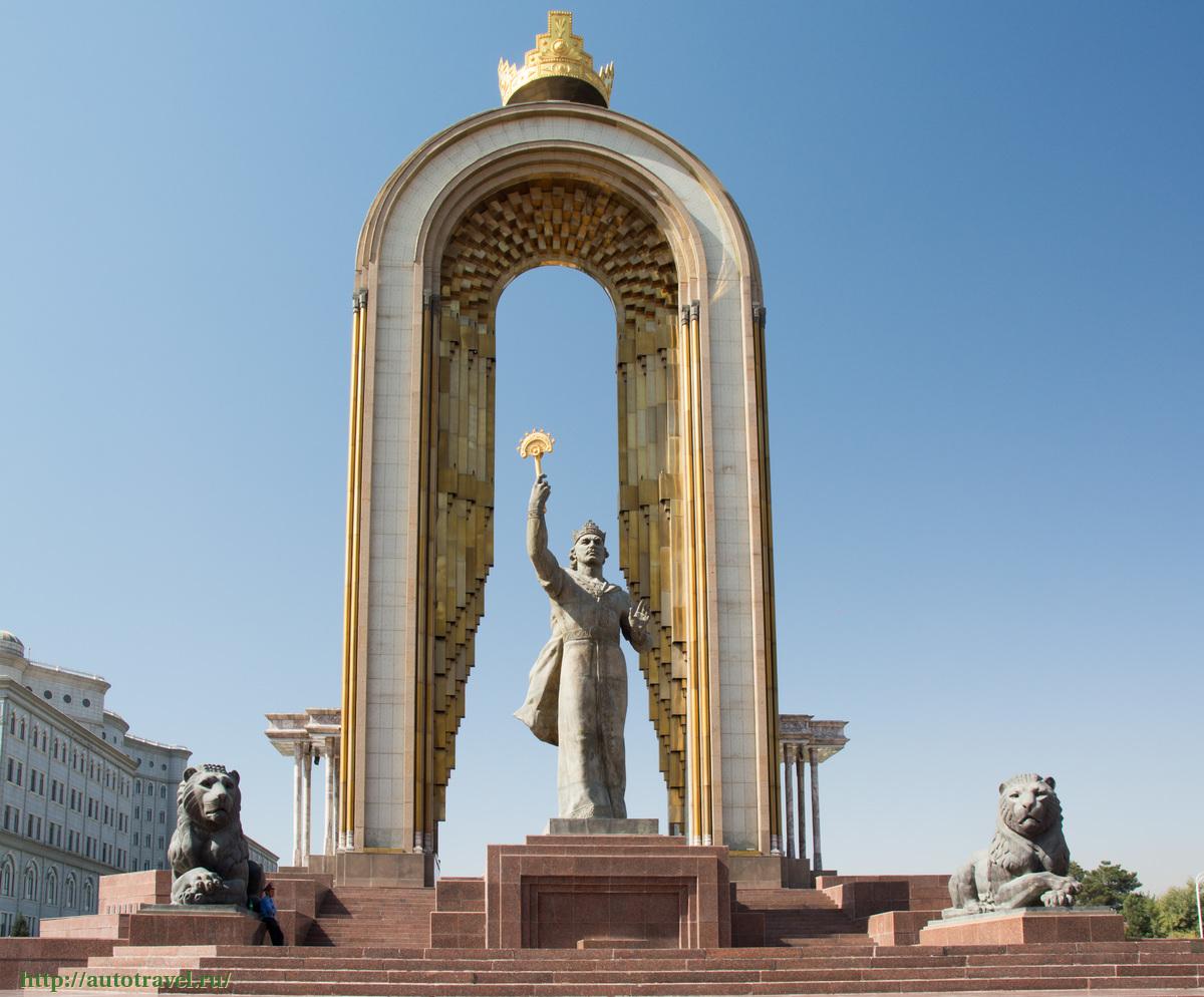 a memorial to Ismail Somoni