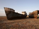 To the present Aral Sea coast..